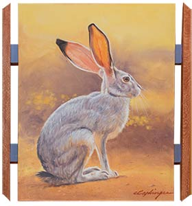 Chuck Caplinger's Rabbit painting