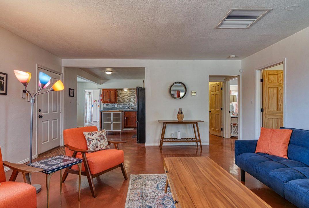 Harmonic House rental living room