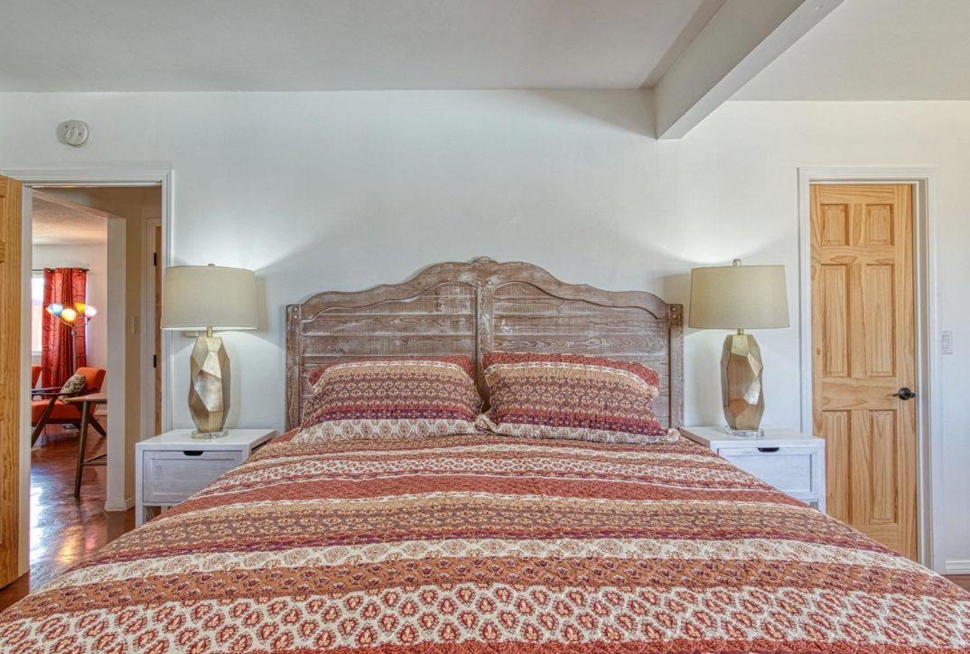 Harmonic House rental master bed
